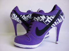 nike high heels! - wink wink - with exercise and pretty heels - we can eat as we please....