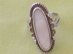Petite Sterling Silver MOP Vintage Ring by EternalElementsEtsy