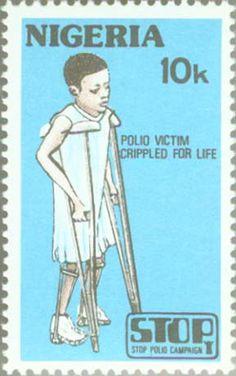 polio pictures   Nigeria 1984 Anti-polio Campaign SG463 Polio / Crutches