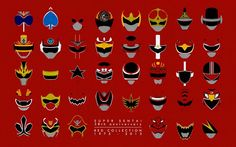 All red ranger helmets!!!