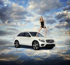 Doutzen Kroes for Mercedes-Benz Fashion Campaign on a GLC Hybrid