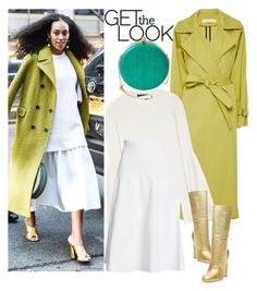 """""""Get The Look: Chartreuse Coat"""" by arethaman ❤ liked on Polyvore featuring Kaelen, The Row, Steve Madden, Victoria Beckham and Alexander McQueen"""