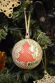 mod podge ornament... we made some too :)