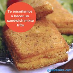 Esta receta es fácil y muy rápida de hacer. Seguro que te saca de un apuro en algún momento. http://www.guiainfantil.com/recetas/sandwiches-y-bocadillos/sandwich-mixto-frito-recetas-rapidas-para-ninos/
