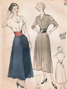 Vintage dress pattern-- want to make this knee-length