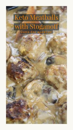 If you were looking for a perfect keto Gameday appetizer, you will love our keto meatballs with stroganoff. This is an easy and delicious low-carb recipe that can be made in an instant pot. Keto Lunch Ideas, Lunch Recipes, Appetizer Recipes, Appetizers, Recipes Dinner, Dessert Recipes, Keto Diet Breakfast, Breakfast Recipes, Breakfast Ideas