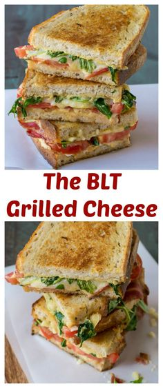 The best BLT you'll ever eat is a BLT Grilled Cheese Sandwich! #grilledcheese