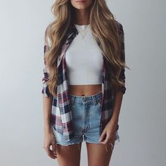 New top & plaid shirt from @windsorstore #windsorgirl