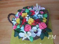 Košík s květinami