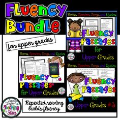 Reading Fluency Passages for Upper Grades is a collection of poems, songs, quotes, and speeches that teach about America's history as students focus on reading fluency. Common Core Anchor Reading Standards posters can also be used to remind students of the strategies they are using while working on their