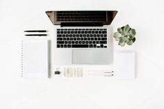 Modern workspace by Floral Deco on @creativemarket. Price $7 #minimalistworkspacestockphoto #mockupstockphoto #workingstockphoto