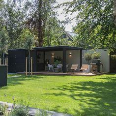 Backyard Sheds, Backyard Patio Designs, Garden Cabins, Garden Cottage, Modern Landscaping, Backyard Landscaping, Wooden Garden Gazebo, Pool Houses, Outdoor Gardens