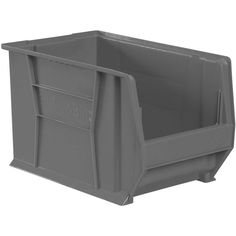 "Bins, Totes & Containers | Bins-Stack & Hang | Akro-Mils Super-Size AkroBin® 30282 - Stacking Bin 12-3/8""W x 20""D x 12""H Gray - Pkg Qty 2 