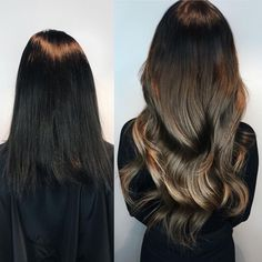 Hair perfection! 🖤 Makeover by Sarah @rapunzelhelsinki. Featured: Quick & Easy and a mix of three different colors: Chocolate Brown Ombre #T2/6, Brown Ash Ombre #T3/14 and Dark Brown #4 🍫 #rapunzelofsweden
