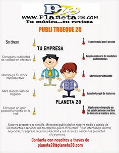 Publi trueque 28. Tu publicidad sin desembolso en www.planeta28.com