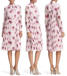 "Kate wore the label's Encore Rose Chiffon Dress, a print ""inspired by the roses tossed on stage at the end of a show."""