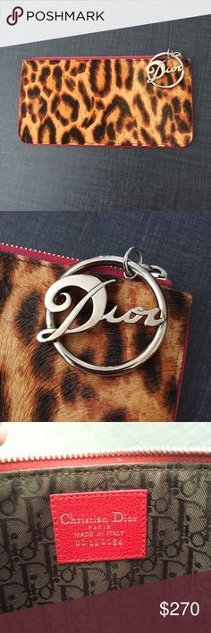 Selling this Christian Dior GAMBLER Leopard Fur Red Clutch on Poshmark! My username is: anikonyc. #shopmycloset #poshmark #fashion #shopping #style #forsale #Christian Dior #Handbags