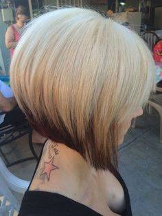 A line Bob two toned hair                                                                                                                                                                                 More
