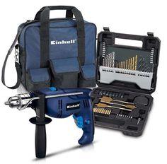 Furadeira de Impacto Einhell 1010 W BT-ID 1000 Kit Acompanha 70 acessórios e bolsa << R$ 18990 >>