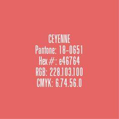 Cayenne - Pantone Colours