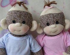 PDF Sock Monkey Baby Pattern...love these...sooooo cute