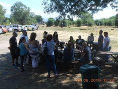Enorme día de Paintball con estos simpáticos grupos de amigos!!