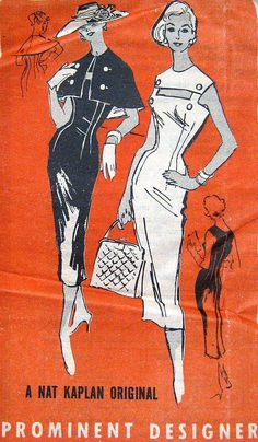 Vintage 1950s Wiggle Dress Pattern Prominent by PatternGal on Etsy