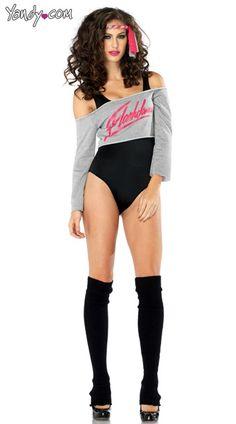 flashdance bodysuit costume sexy flashdance costume womens flash dance costume halloween ideasdifferent