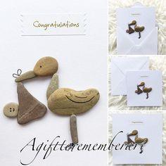 New baby handmade pebble frameable greeting card. #agifttorememberart #pebbleart #newbaby #newborn #pregnancy #babyshower #greetingcards #card #etsy #etsyshop #bird #unique #baby #cute #handmade #art #instaart #instaphoto #collage #craft #nature #makersgonnamake #mumswhomake #smallbusiness #workdwideshipping