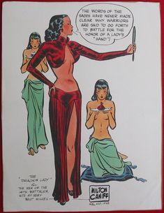 CANIFF - Handcolored Dragon Lady print, 1943 Comic Art