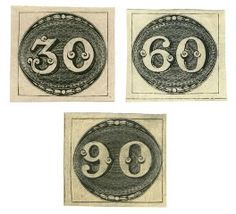 "Brazil ""Bull's Eye"" stamps issued August 1, 1843"