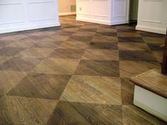 diamond | stained wood flooring | FROGTAPE keeps lines sharp