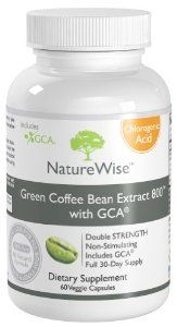 Amazon.com: NatureWise Green Coffee Bean Extract 800 with GCA Natural Weight Loss Supplement, 60 Count: Health  Personal Care