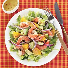 Simple Shrimp, Avocado and Orange Salad! #shrimp #salad #healthy #avocado #Summer