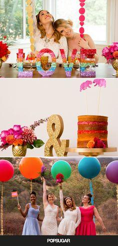 LGBTQ rainbow-themed wedding inspiration.