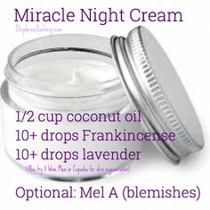 DIY Skin Care Tips :  Miracle face cream (night or dayor BOTH!) StephanieBoehmig.com
