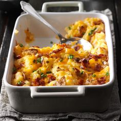 Loaded Twice-Baked Potato Casserole Recipe -My husband is a meat and potatoes guy, so I try new combinations for variety. In this dish,…