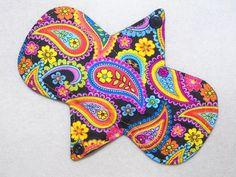 """7.25"""" Regular - Floral Paisleys - Reusable Cloth Menstrual Pad (7MC)"""