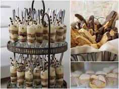 mini gourmet dessert tables vintage wedding - Google Search