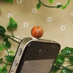 30%OFF Cute NBA Mini Basketball Ball Sport Dust Plug 3.5mm Phone Dust Stopper Earphone Cap Dustproof Plug Charms iPhone 4 4S 5 HTC Samsung on Etsy, $3.48