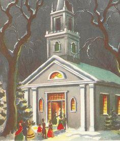 Vintage Christmas Cards Collage Mixed Media by TheTreasuredBarn, $4.50