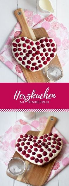 Valentine cake with Valentinskuchen mit Himbeeren A very simple heart cake with which you can surprise your loved ones. A great recipe for Valentine& Day, Mother& Day or birthday! Cupcakes Amor, First Birthday Cupcakes, Healthy Cupcakes, Valentines Day Cakes, Cake Games, Pumpkin Spice Cupcakes, Cinnamon Cream Cheese Frosting, Easy Cake Recipes, Healthy Recipes