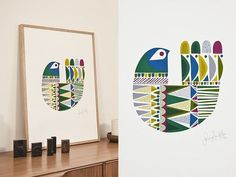 Anyone have 220 euros they want to give me? I would kill to own one of Sanna Annukka's wood soul birds or her new, lovely prints. Such a talented woman.