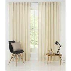 Buy Calico Slot Top Curtains - 66x90in - Cream at Argos.co.uk - Your Online Shop for Curtains. Argos, Home Living Room, Blinds, Kids Room, Curtains, Stuff To Buy, Slot, Shopping, Cream