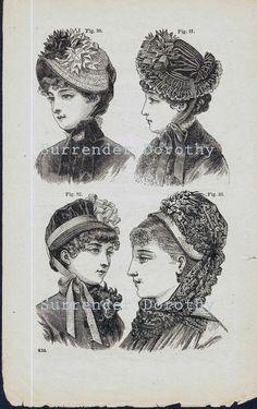 175 Best 1865-1889 Hats   Bonnets b909ee7850f