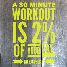 We all have 30 minutes a day. So use it effectively! I can coach you through so you can become your healthiest self... Email me stephnegro@gmail.com