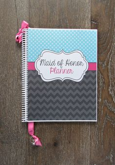 Maid of Honor Wedding Planner & Organizer by OrganizedBride