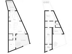 Herringbone House Floor Plans, Atelier Chan Chan | Remodelista - love the two courtyards