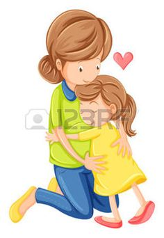 Illustration of Illustration of a love of a mother and a daughter on a white background vector art, clipart and stock vectors. Happy Kids Quotes, Quotes For Kids, Quotes Children, Happy Children, Mothers Love, Happy Mothers Day, Mothers Day Cartoon, Mother Clipart, Bebe Vector