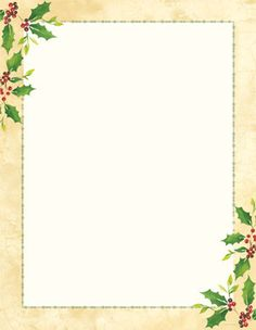 x imprintable stationery falling holly 25 sheets